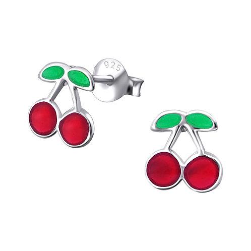 Sterling zilveren oorstekers kersjes