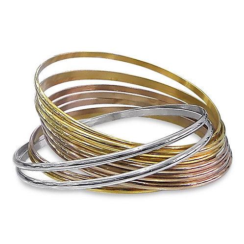 Set van armband in rvs