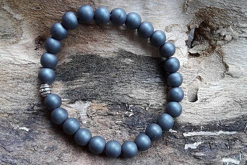 Armband hematite grijs