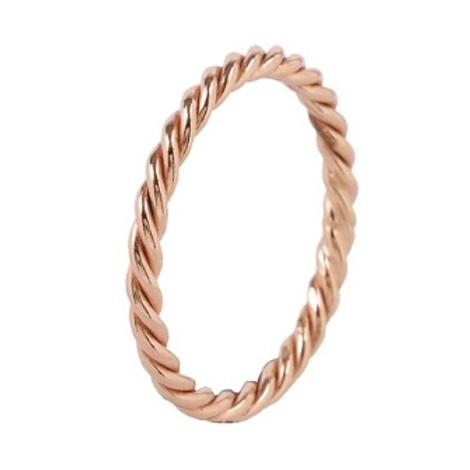 Minimalistische 14 k rosé ring wired