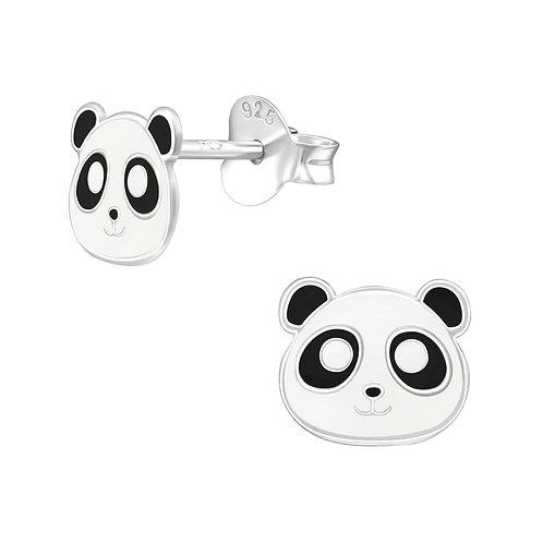 Sterling zilveren oorstekers panda