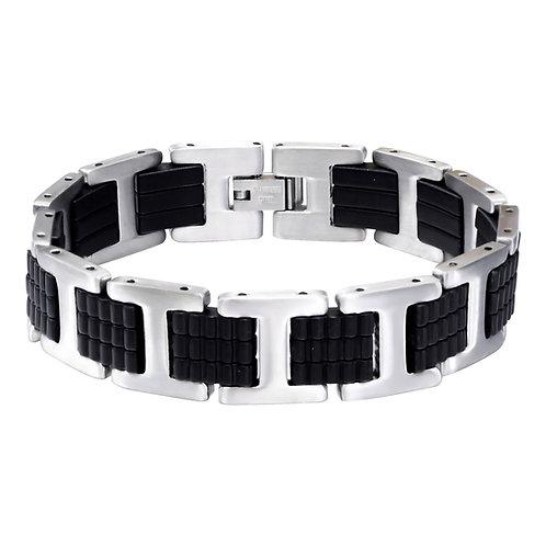 RVS armband zwart