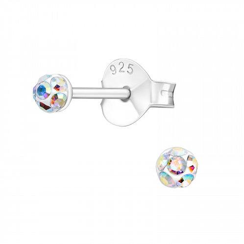 "Zilveren oorstekers ""crystal"""