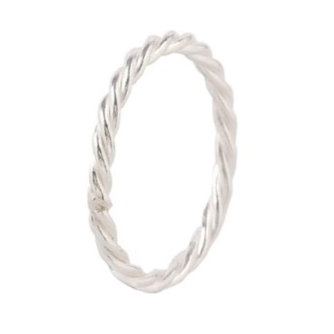 Minimalistische 14 karaat witgouden ring wired