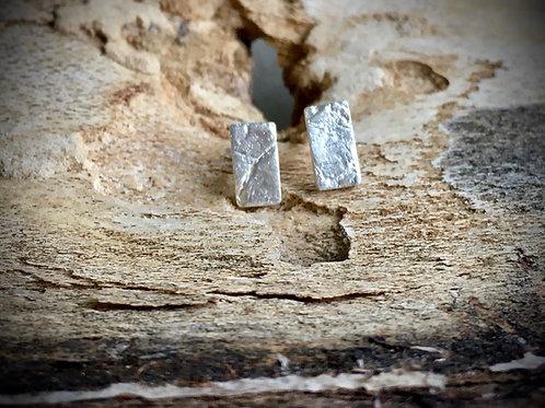 Minimalistische oorstekers in fijn zilver 999