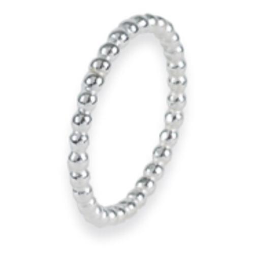 Minimalistische 14 karaat witgouden ring dots