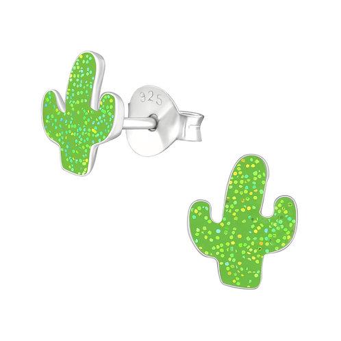 Sterling zilveren oorstekers cactus