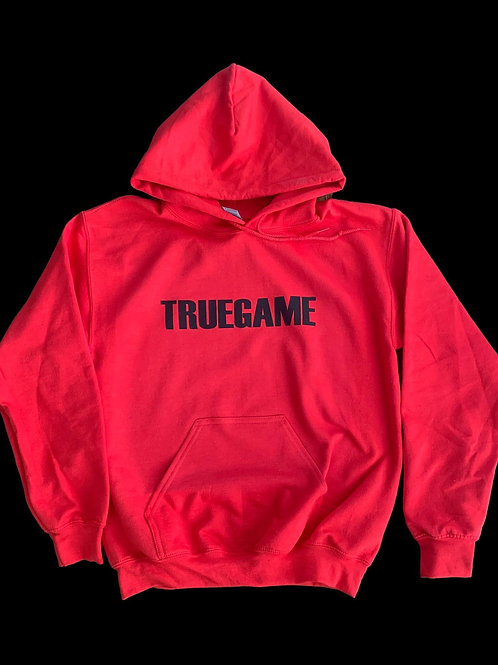 Red and Black True Game Print Hoody