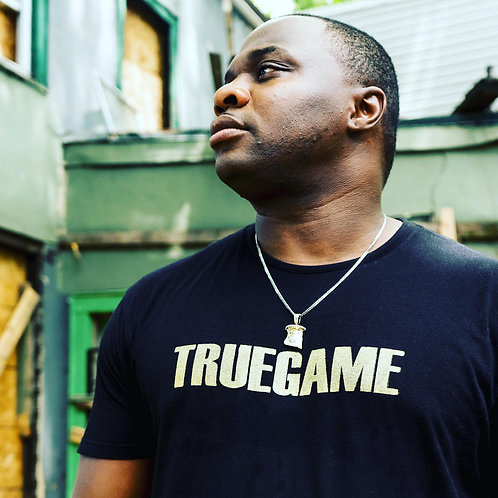 Black and Gold True Game Tee