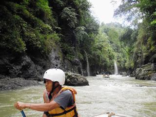 Cemetery, hills, forest, river in Tana Toraja: Jun 2010