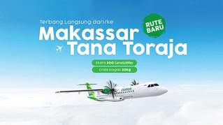 NEW Flight Route Makassar to Toraja