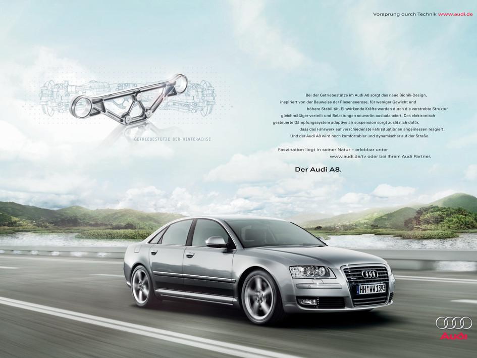 Audi A8 Internationale Printkampagne