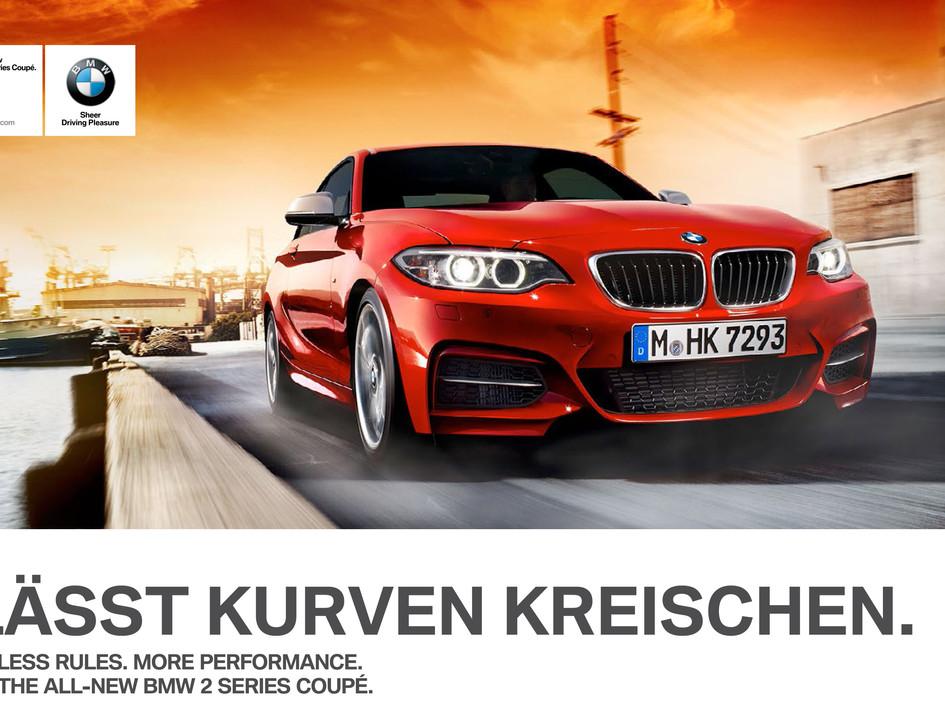 BMW 2er Coupé Printkampagne