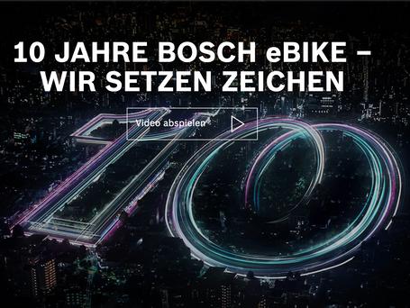 "Bosch eBike Systems ""10 Jahre"""