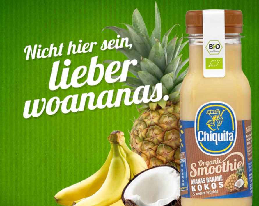 Chiquita Smoothies Social Media Kampagne
