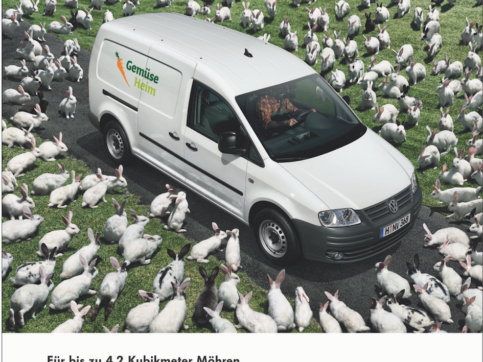 VW Caddy Maxi Internationale Printkampagne