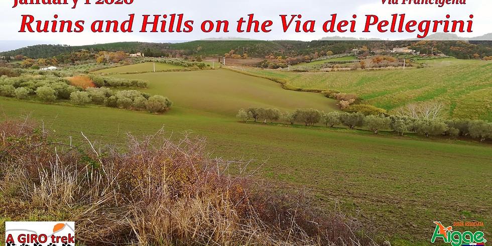 Ruins and Hills on the Via dei Pellegrini