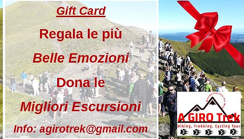 gift card promo escursioni trekking