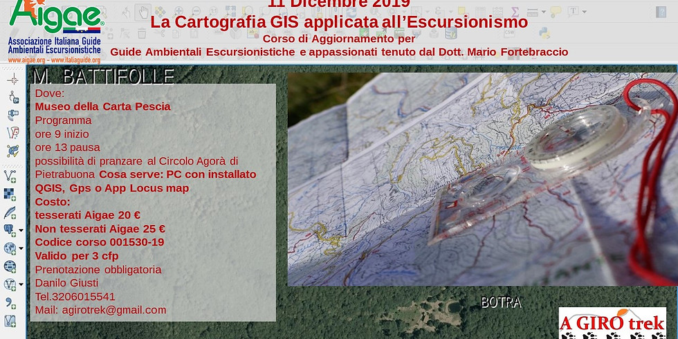 La Cartografia GIS applicata all'Escursionismo