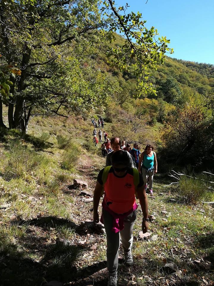 escursione in valleriana, toscana