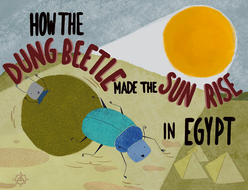 Picture book cover of non fiction story about Egypt
