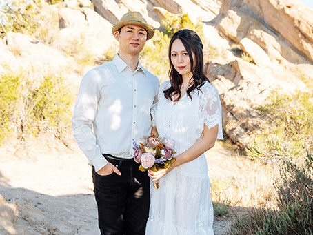 Vasquez Rocks Wedding photo session