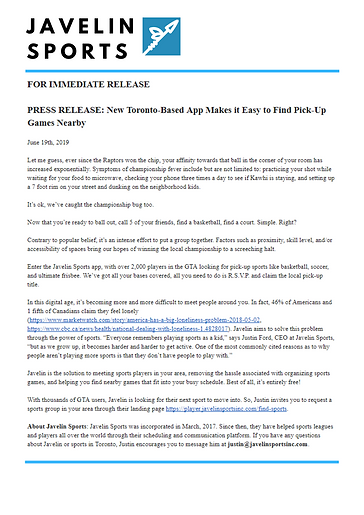 Javelin Sports July-2019 Press Release.p