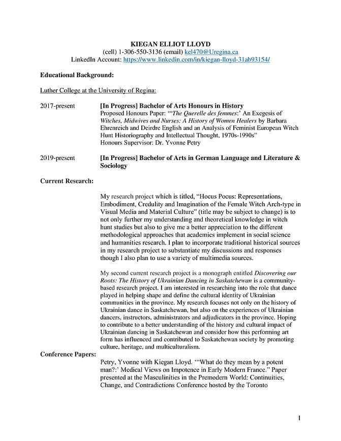 Page 1 - Academic CV