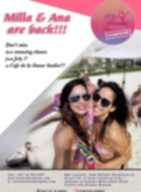 COME BACK FLYER OF MILLA AND ANA PAULA.j