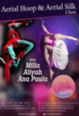 AERIAL CLASS WITH MILLA, ALIYAH AND ANA