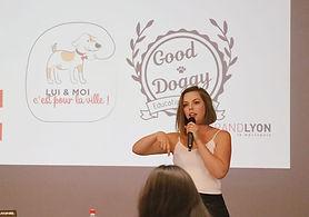 Good Doggy educateur canin fait une conférence