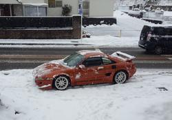 雪は苦手w