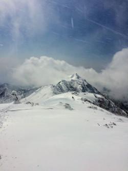 武尊山から見た剣ヶ峰への稜線