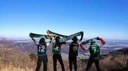 高取山にて山岳部メンバー