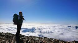白馬岳雲海上での稜線歩き