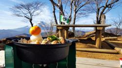 菰釣山 富士山と山頂まりこ鍋