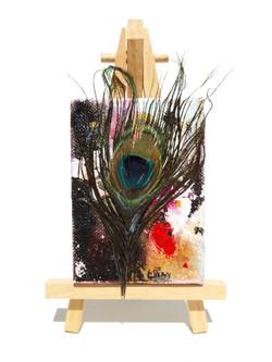 'Miniature-Peacock with Splash'