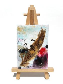 'Miniature-Brown Quail Feather'