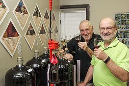 Tom and Tony at the Wineworx cellar