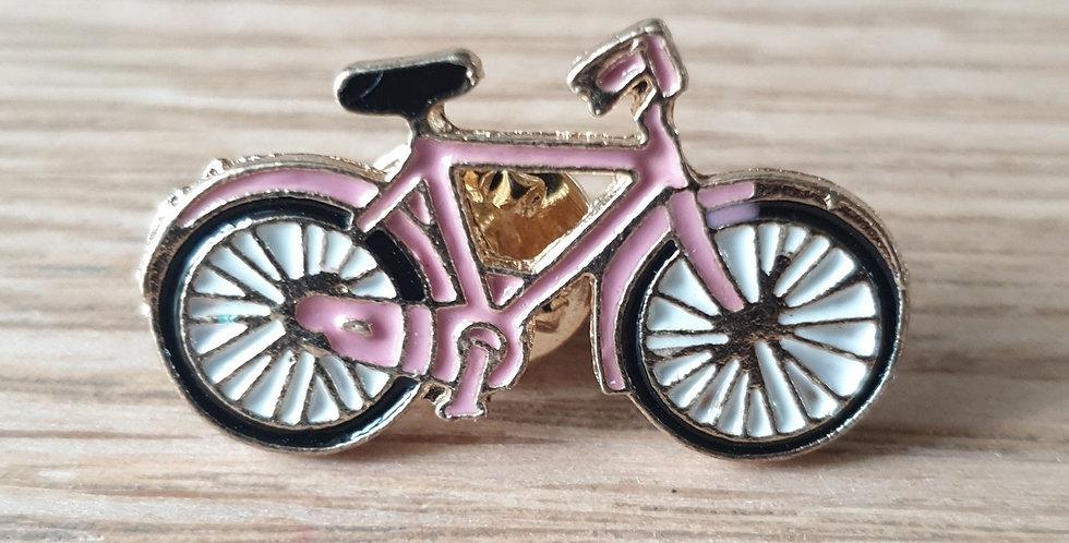 Pin, lyserød cykel