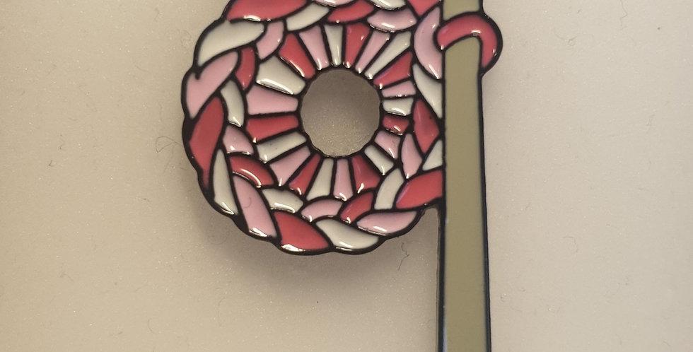 Pin, Hæklenål rød