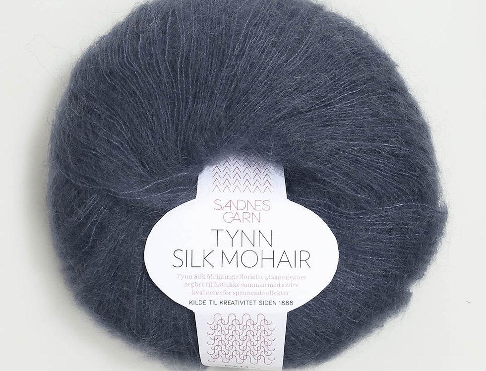 Tynn Silk Mohair, 6081 Dyb Blå