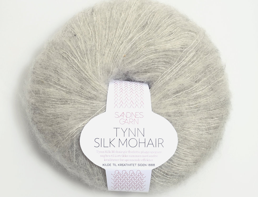Tynn Silk Mohair, 1022 Lys grå