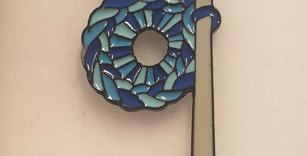 Pin, Hæklenål blå