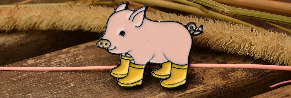 Pin, Gris med gule støvler