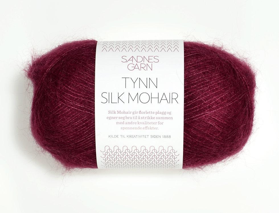 Tynn Silk Mohair, 4545 Vinrød