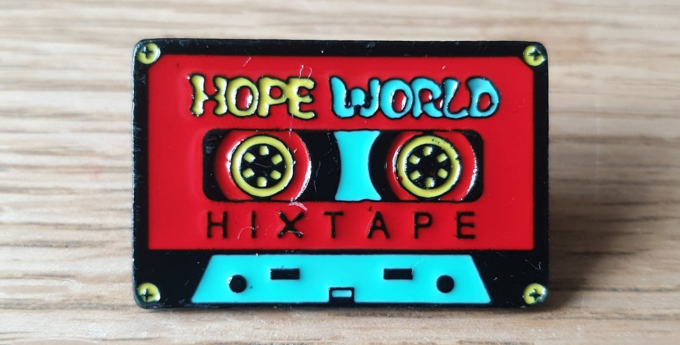 Pin, kassettebånd rød
