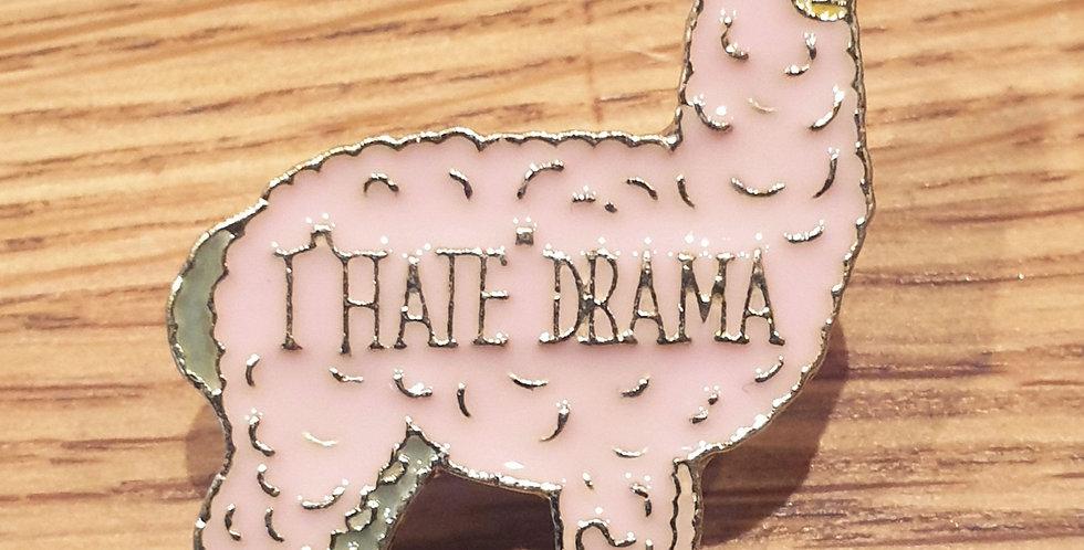 Pin, I hate drama, lyserød