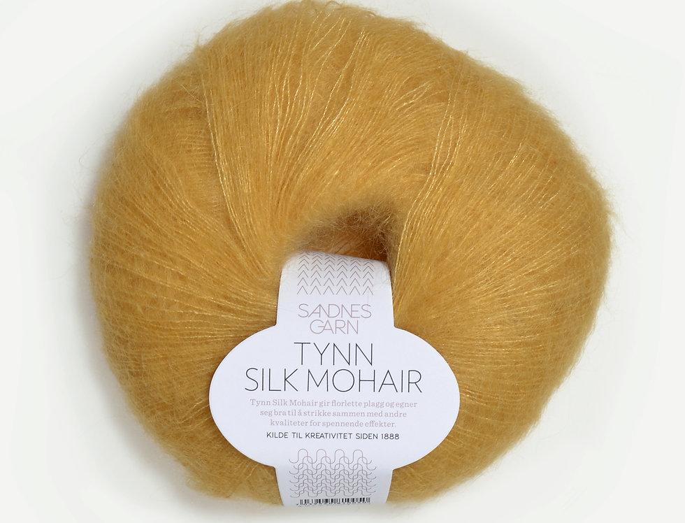 Tynn Silk Mohair, 2113 Strågul