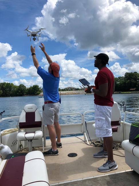 Drone Landing at Lake Murray